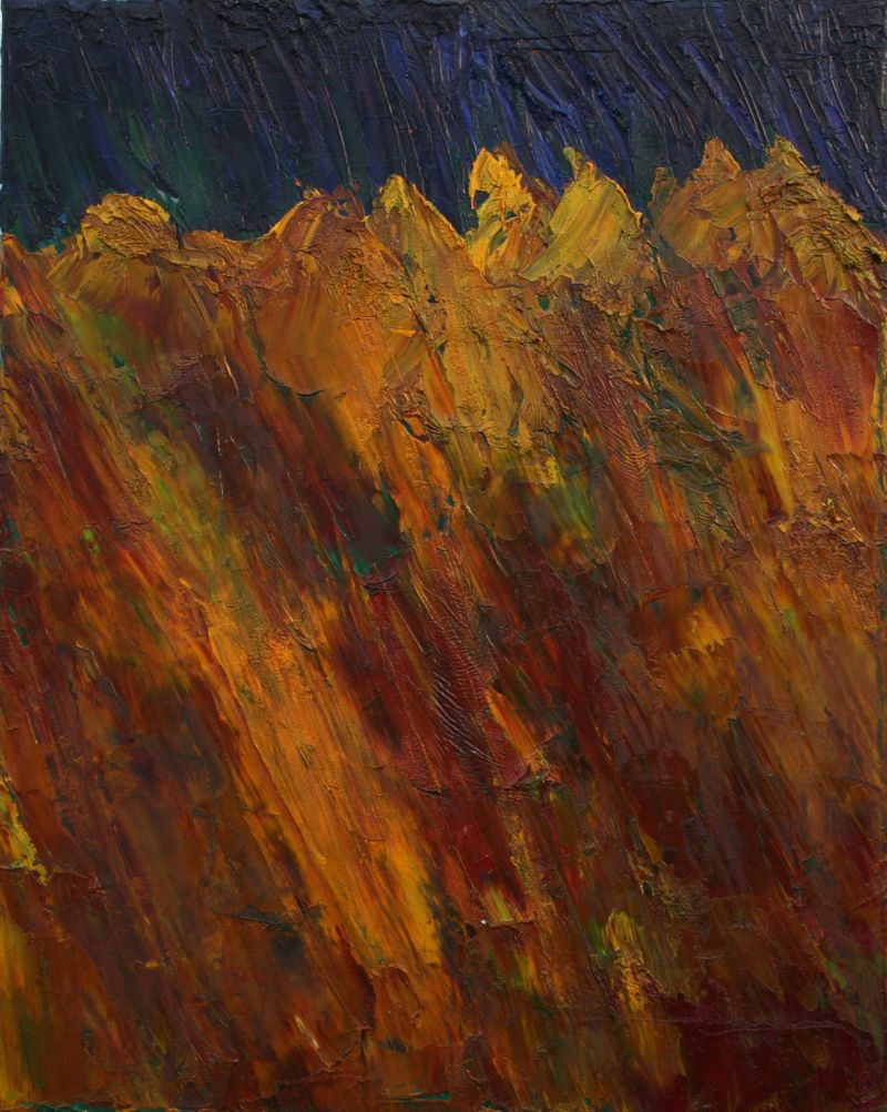 Mountains 40cm x 60 cm